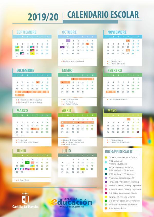 Calendario Escolar Asturias 2020 2019.Tablon De Anuncios Ceip San Antonio Yeles Toledo